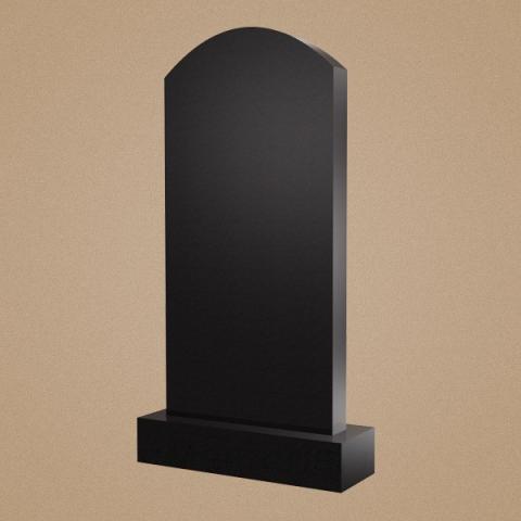 Вертикальное надгробие в форме арки