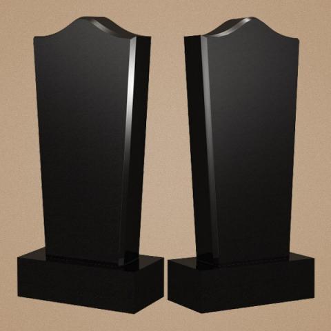 Вертикальный памятник из габбро-диабаза