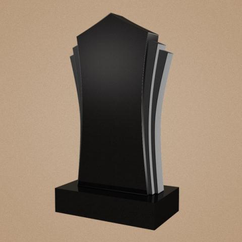Оригинальное фигурное надгробие с  вырезными шлифованными элементами