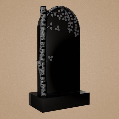 Эксклюзивное надгробие с изображением березы