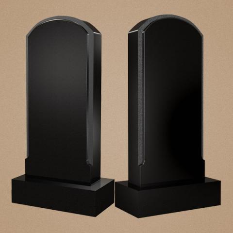 Классическое вертикально надгробие в виде арки с шлифованным профилем
