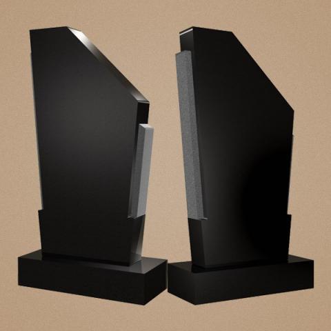 Вертикальное набгробие с  нестандартным дизайном